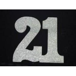 Poly 21st Silver 30cm