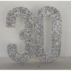 Poly 30th Silver 30cm