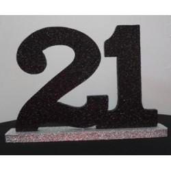 21st centrepiece 25cm Black