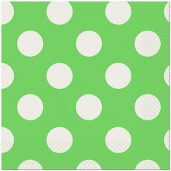 Lime Green Polka Dot Serviettes