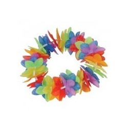 Hawaiin Head Leis Multicolour x 1