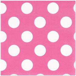 Hot Pink Dots Serviettes