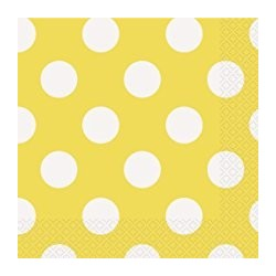 Yellow Dots Serviettes