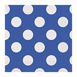 Royal Blue Dots Serviettes