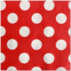 Red Dots Serviettes