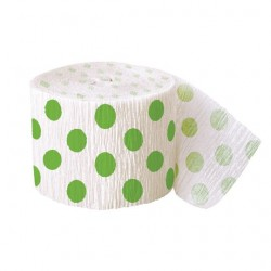 Lime Green Polka Dots Streamer