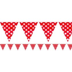 Red Dots Plastic Bunting (3.6m)