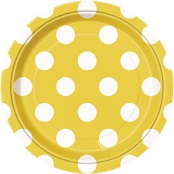 Yellow Dots dessert plates
