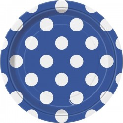 Royal Blue Dots dessert plates