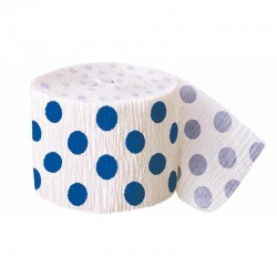 Royal Blue Dots Streamer