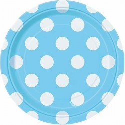 Powder Blue Dots dessert plates