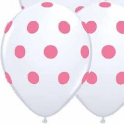 Powder Pink Polka Dots Latex balloons