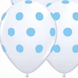 Powder Blue Dots Latex balloons