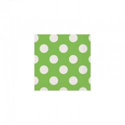 Lime Green Dots Beverage Serviettes (pack of 10)