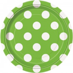 Lime Green Dots dessert plates