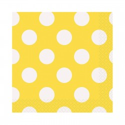 Yellow Dots Beverage Serviettes (pack of 10)