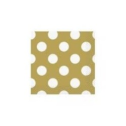 Gold Dots Beverage Serviettes (pack of 10)