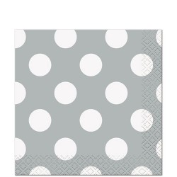 Silver Dots Beverage Serviettes (pack of 10)