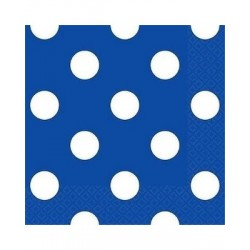 Royal Blue Dots Beverage Serviettes (pack of 10)