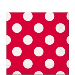 Red Dots Beverage Serviettes (pack of 16)