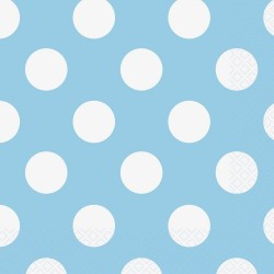 Powder Blue Dots Serviettes