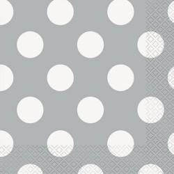 Silver Dots Serviettes