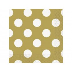 Gold Dots Serviettes