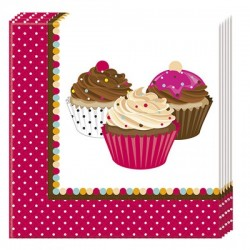 Cupcake Dots Serviettes (pack of 10)