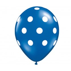 Dark Blue Polka Dot Balloon - www.mypartysupplies.co.za