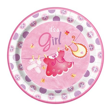 Baby Girl Clothesline Plates