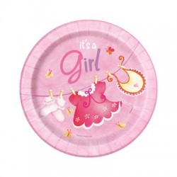 Baby Girl Clothesline Plates
