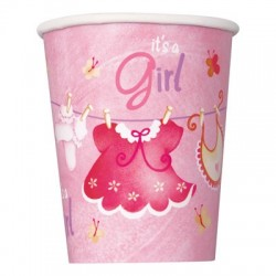 Baby Girl Clothesline Cups
