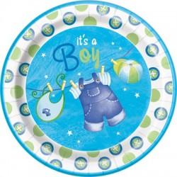 Baby Boy Clothesline Plates