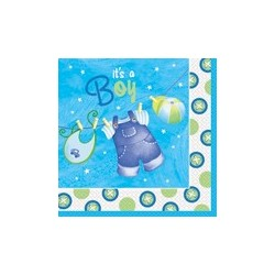 Baby Boy Clothesline Lunch Serviettes