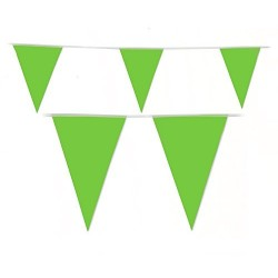 Lime Green Plastic Flag Bunting (2.5m)