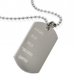 Camo Army Dog Tag