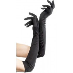 Gloves Material Long Black
