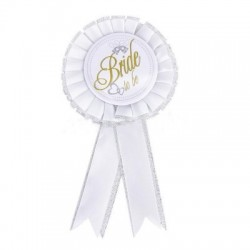 Bride to be award ribbon
