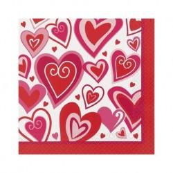 Hearts of Joy Serviettes (pk/16)