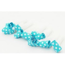 Turquoise Polka dots blowouts