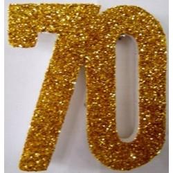 Poly 70th Gold 30cm