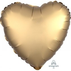 Satin Gold Heart Foil Balloon