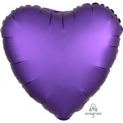 Satin Purple Heart  Heart Foil Balloon