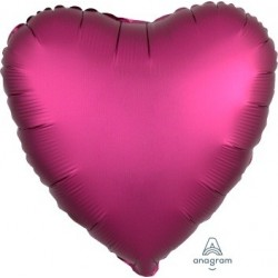 Satin Pomegranate Heart Foil Balloon