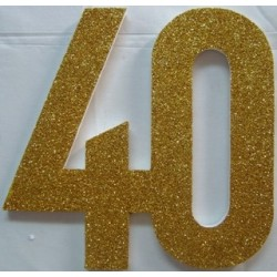 Poly 40th Gold 30cm