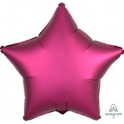 Satin Luxe Pomegrante Star Foil Balloon - South Africa