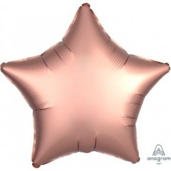 Satin Luxe Copper Rose Star Foil Balloon - South Africa