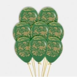 Camo Print Latex Balloon