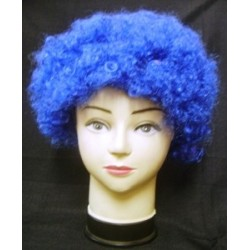 Wig clown Blue