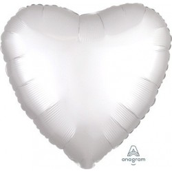 "18"" Satin Luxe White Heart Foil Balloon"